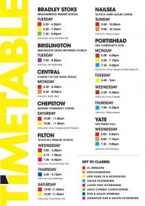 Timetable effective October 1st