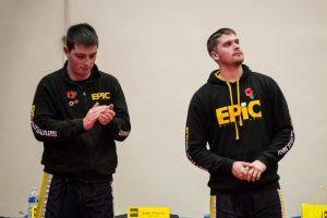 Matt with fellow coach Ben Gill