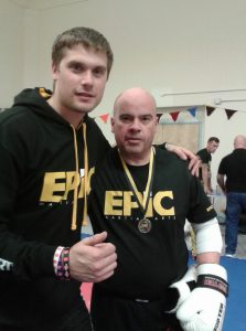 Mike Andrews (right) with senior coach Matt Roberts (left) at BBBA interclub